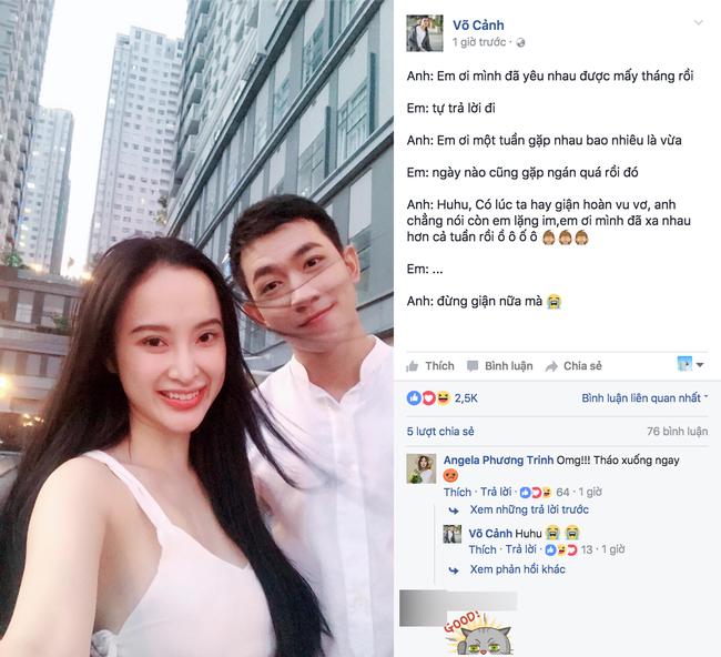 Mượn Cá tháng Tư, Võ Cảnh công khai tình cảm với Angela Phương Trinh? - Ảnh 1.