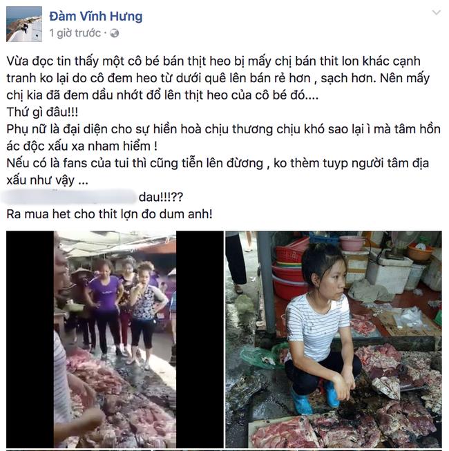 Đàm Vĩnh Hưng nhờ người thân mua hết thịt lợn giúp đỡ người phụ nữ bị tạt dầu luyn ở Hải Phòng - Ảnh 1.
