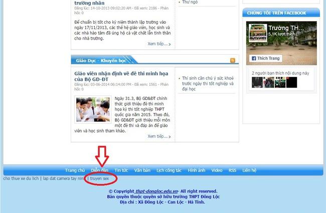 Hà Tĩnh: Website trường THPT dẫn đến trang truyện sex gây xôn xao - Ảnh 1.
