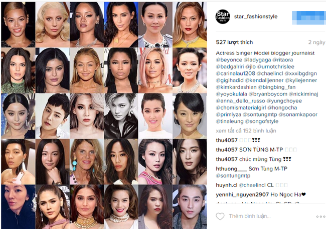 Hồ Ngọc Hà & Sơn Tùng lọt Top 30 ngôi sao thời trang trên Instagram FashionTV mà... không hay biết