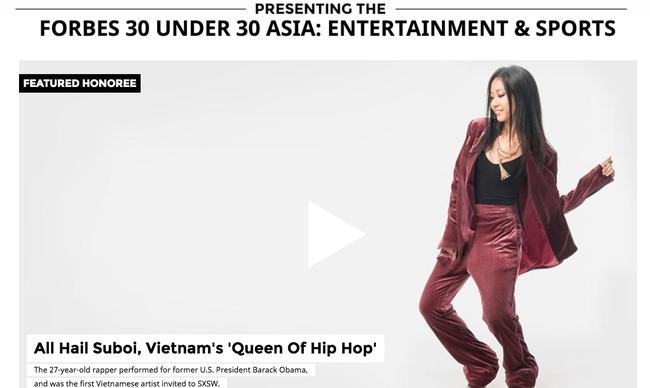 Lên hẳn trang bìa Forbes Châu Á, Suboi lại một lần nữa khiến người trẻ Việt không khỏi tự hào! - Ảnh 2.