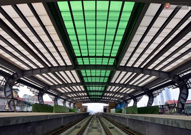 Các nhà ga của tuyến đường sắt Cát Linh - Hà Đông đang dần hoàn thiện, mỗi nhà ga là một màu sắc riêng biệt, nổi bật! - Ảnh 8.