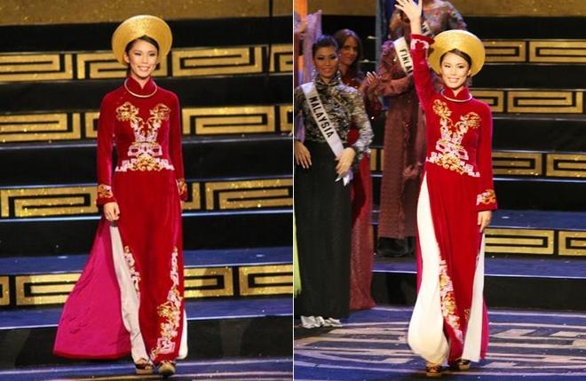 Ngắm các mỹ nhân thế giới đẹp dịu dàng trong tà áo dài Việt Nam - Ảnh 17.