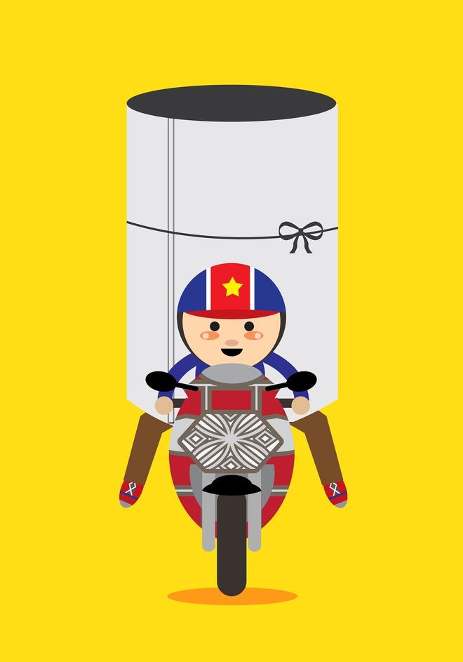 """Trong mắt hoạ sĩ nước ngoài, hàng rong và những chiếc xe thồ """"cả thế giới"""" ở Việt Nam lại ngộ nghĩnh đến thế! - Ảnh 3."""