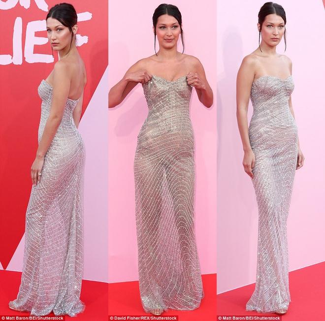 Bella mải xốc váy vì sợ lộ hàng, Kendall diện cả quần short đi thảm đỏ Cannes - Ảnh 2.