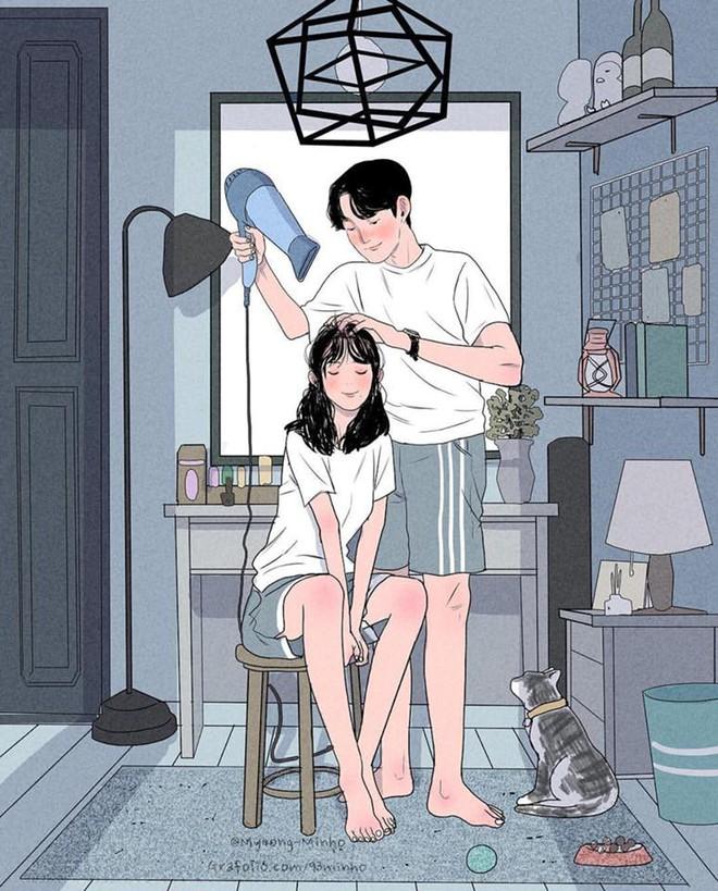 Bộ tranh: Bất cứ cô gái nào cũng mong muốn một tình yêu, dù rằng chỉ giản dị như thế này thôi! - Ảnh 1.