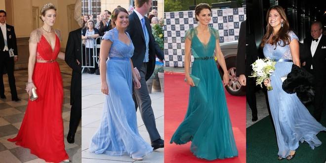Trước khi trở thành người một nhà, công nương Kate và công nương tương lai Meghan Markle đã có màn đụng hàng váy áo thú vị - Ảnh 9.