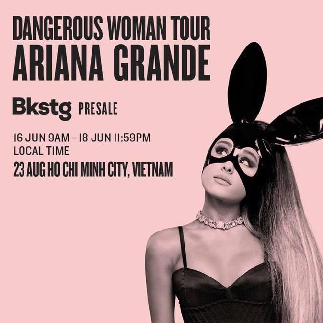 Sốt xình xịch Ariana Grande đi tour sang Việt Nam vào tháng 8 - Ảnh 1.