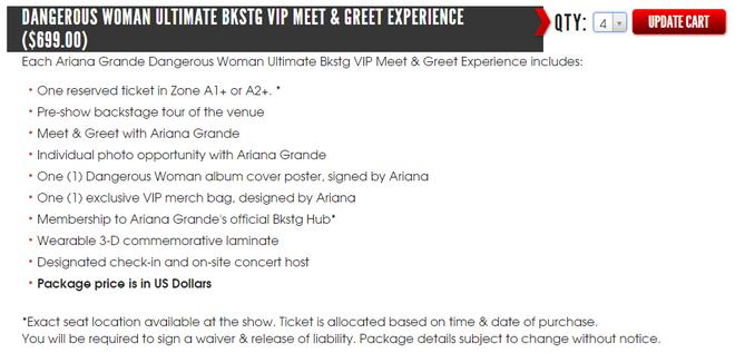 Thực hư chuyện concert Ariana tại Việt Nam vừa mở bán đã hết sạch vé sát sân khấu