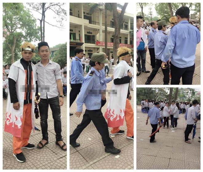 Hóa trang thành Naruto đến lễ bế giảng, nam sinh Hà Nội bị bảo vệ trục xuất ra khỏi trường - Ảnh 1.