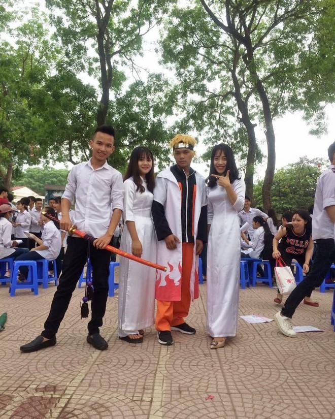 Hóa trang thành Naruto đến lễ bế giảng, nam sinh Hà Nội bị bảo vệ trục xuất ra khỏi trường - Ảnh 2.