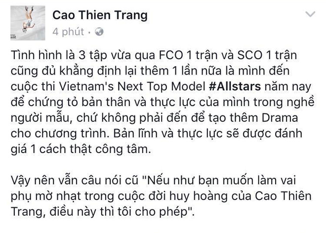 Hoa hậu Đặng Thu Thảo bất ngờ chia sẻ ủng hộ Cao Thiên Trang - Ảnh 3.