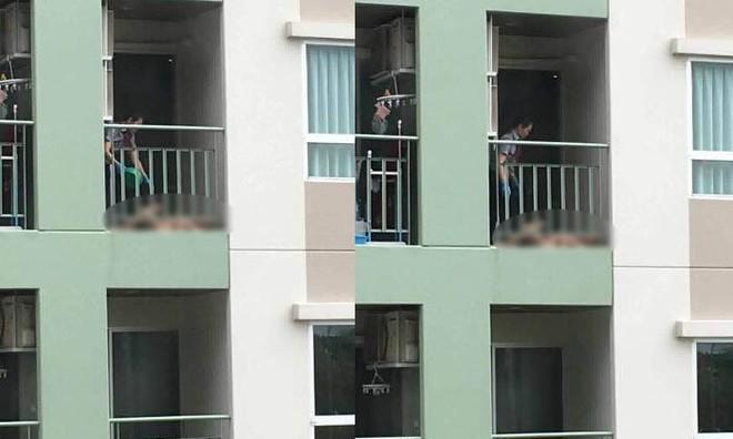 Dân mạng phẫn nộ với người phụ nữ độc ác lôi mẹ ruột ra tắm ở ban công chung cư - Ảnh 1