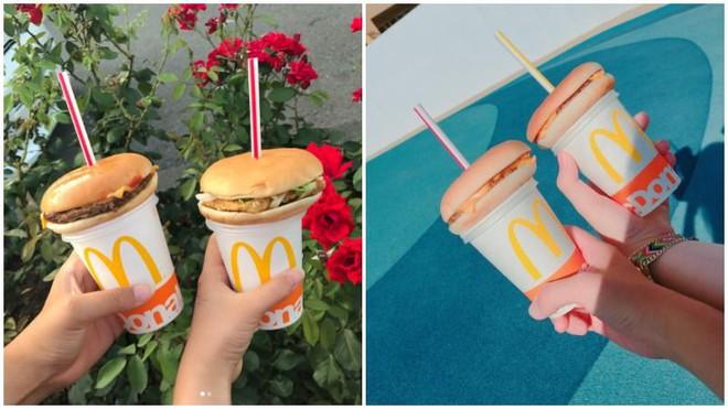 Gắn bánh hamburger lên nắp cốc nước ngọt, việc ít ai ngờ lại gây bão cộng đồng mạng ở Nhật Bản - Ảnh 1.