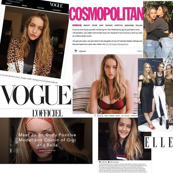 Ít ai biết Gigi - Bella có một người chị em họ là người mẫu ngoại cỡ hết sức xinh đẹp và đáng ngưỡng mộ - Ảnh 2.
