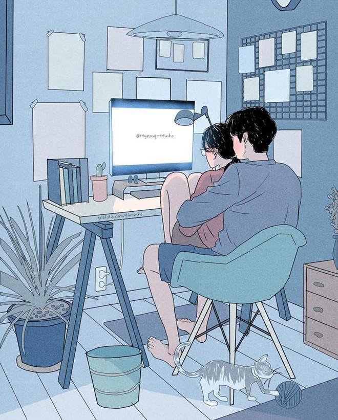 Bộ tranh: Bất cứ cô gái nào cũng mong muốn một tình yêu, dù rằng chỉ giản dị như thế này thôi! - Ảnh 3.