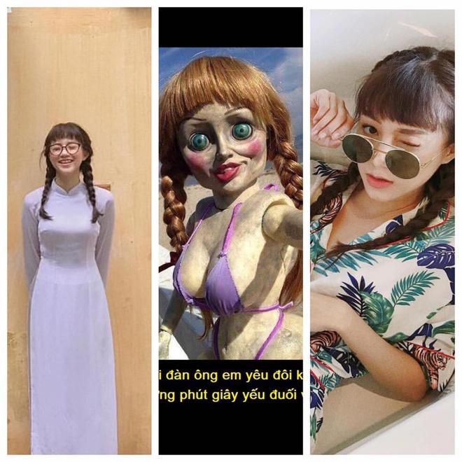 Tóc tết, mái ngố, mắt to: Salim mà cosplay Annabelle thì không ai dám lại gần vì... quá giống! - ảnh 1