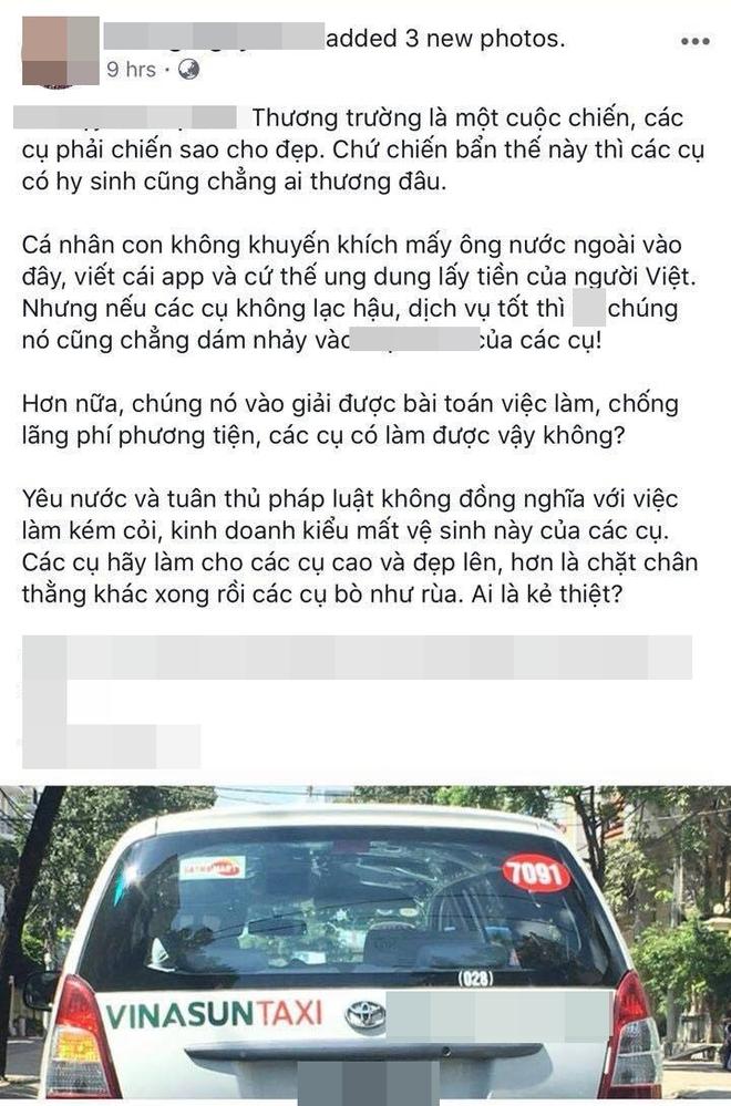 """Hàng loạt ý kiến bức xúc việc taxi Vinasun dán decal phản đối Uber và Grab: """"Thay vì cạnh tranh không lành mạnh, hãy nâng cao chất lượng dịch vụ"""" - Ảnh 6."""