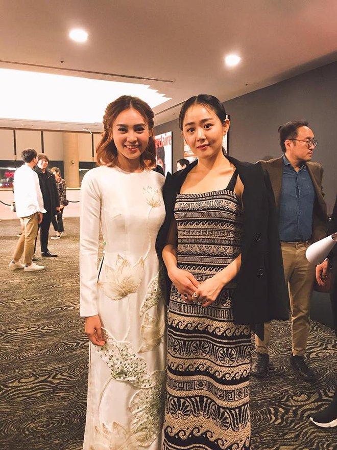 Ninh Dương Lan Ngọc diện áo dài, dịu dàng khoe sắc cùng YoonA và Moon Geun Young - ảnh 2