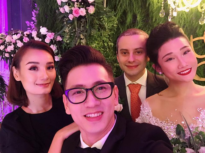 Vợ chồng Lê Thúy cùng Xuân Lan rạng rỡ tham dự đám cưới của Kha Mỹ Vân và chồng Tây - Ảnh 6.