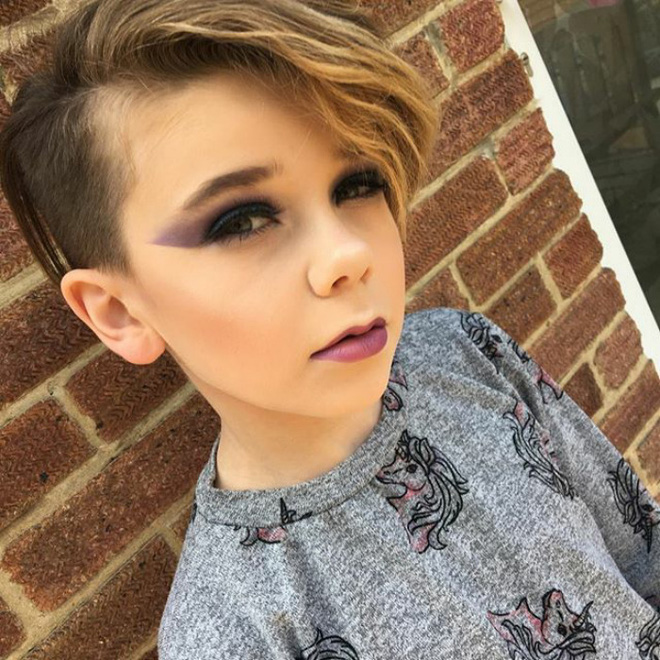 Bé trai 10 tuổi khiến các cô nàng điêu đứng vì tài trang điểm chuyên nghiệp thành thần - Ảnh 5.