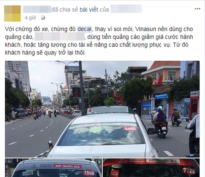 """Hàng loạt ý kiến bức xúc việc taxi Vinasun dán decal phản đối Uber và Grab: """"Thay vì cạnh tranh không lành mạnh, hãy nâng cao chất lượng dịch vụ"""" - Ảnh 5."""