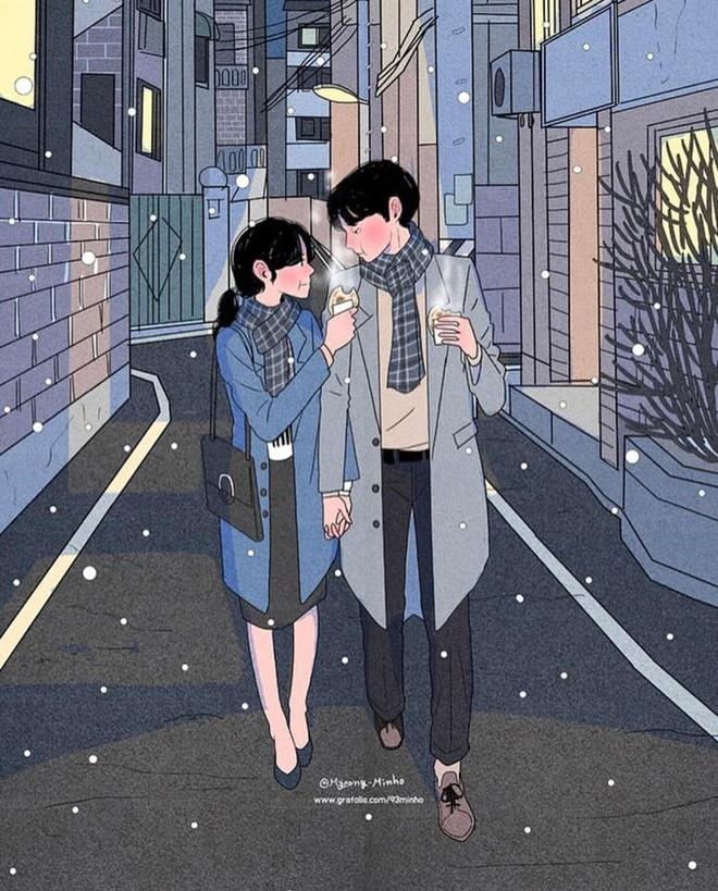 Bộ tranh: Bất cứ cô gái nào cũng mong muốn một tình yêu, dù rằng chỉ giản dị như thế này thôi! - Ảnh 5.