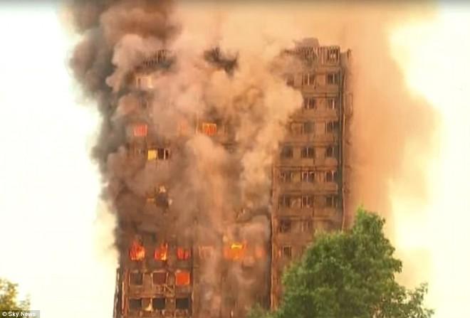 Bàng hoàng hình ảnh tòa tháp 27 tầng ở London sau khi ngọn lửa thui rụi - Ảnh 6