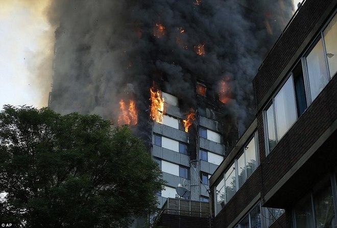 Bàng hoàng hình ảnh tòa tháp 27 tầng ở London sau khi ngọn lửa thui rụi - Ảnh 9