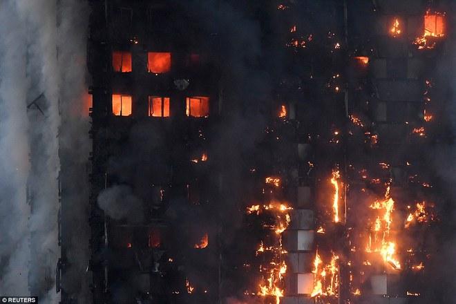 Bàng hoàng hình ảnh tòa tháp 27 tầng ở London sau khi ngọn lửa thui rụi - Ảnh 1