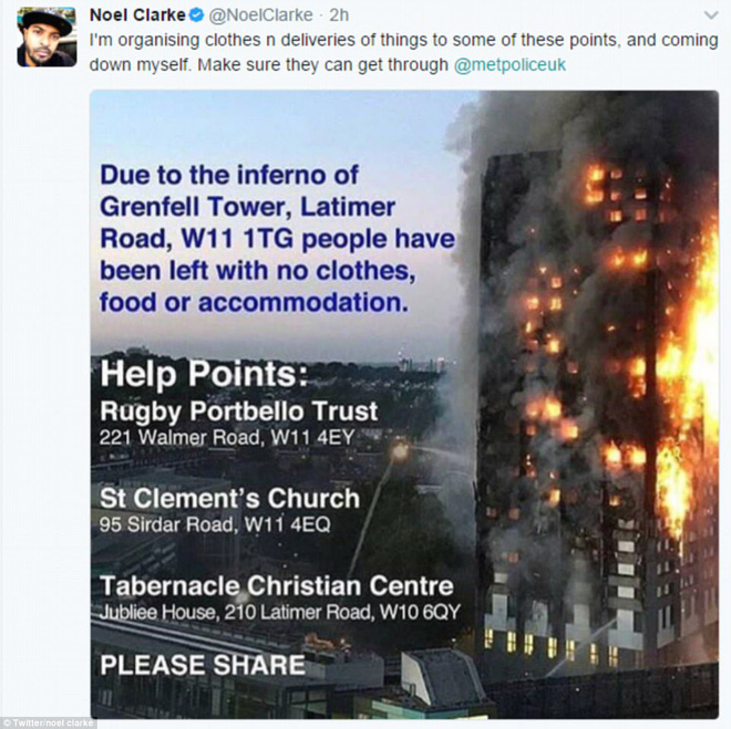 Những hình ảnh ấm áp tình người sau vụ hỏa hoạn kinh hoàng tại tòa tháp 27 tầng ở London - Ảnh 16.
