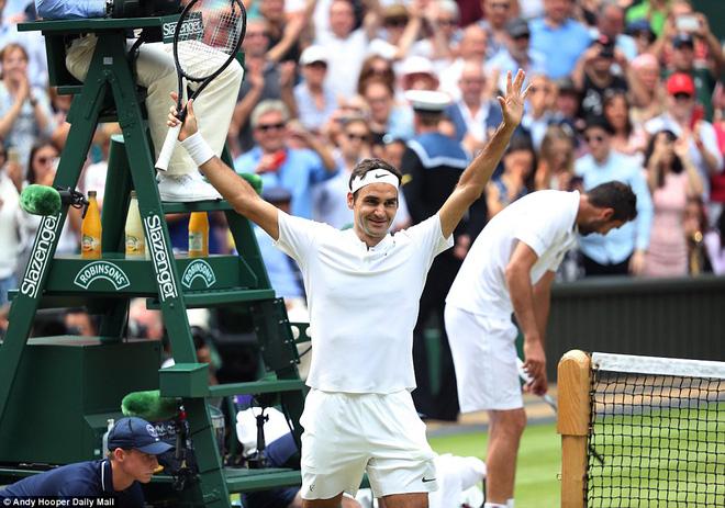 Roger Federer lập kỷ lục 8 lần vô địch Wimbledon - Ảnh 2.