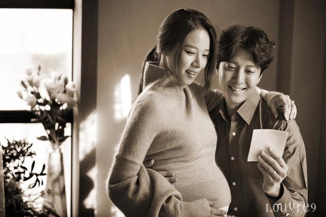Jo Yoon Hee khoe ảnh bụng bầu bên chồng Lee Dong Gun: Thoát mác con ghẻ quốc dân vì quá hạnh phúc! - Ảnh 1.