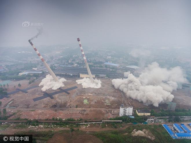 Trung Quốc phá dỡ nhà máy nhiệt điện, cả ngọn tháp cao bằng tòa nhà 60 tầng đổ sập trong vài giây ngắn ngủi - Ảnh 7
