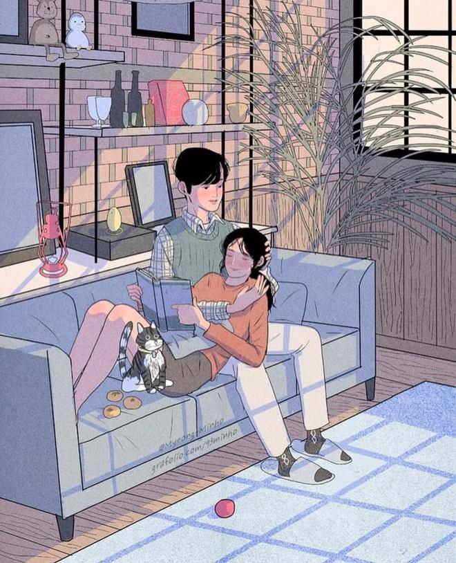 Bộ tranh: Bất cứ cô gái nào cũng mong muốn một tình yêu, dù rằng chỉ giản dị như thế này thôi! - Ảnh 9.