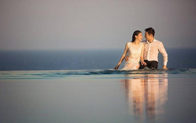 Bộ ảnh cưới tuyệt đẹp của nữ VĐV nhảy cầu xinh đẹp Trung Quốc - Ảnh 3.