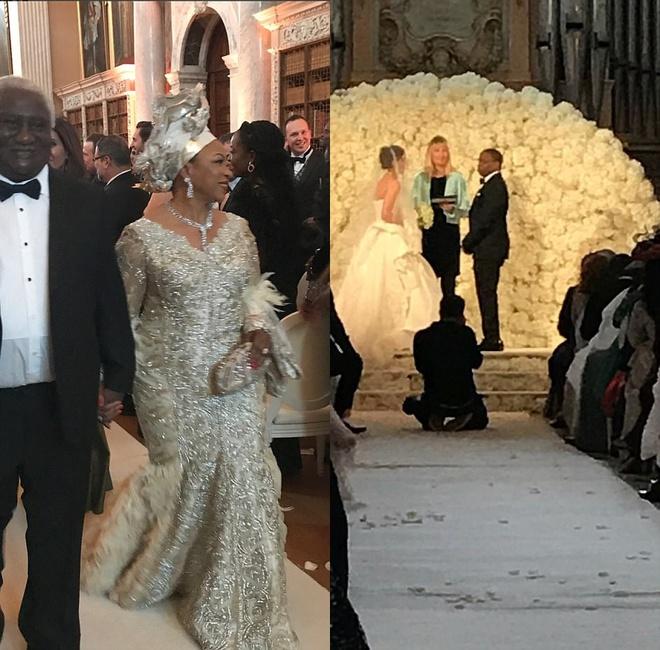 Đám cưới sang chảnh với 1 triệu bông hồng của con trai tỷ phú da màu giàu nhất thế giới - Ảnh 6