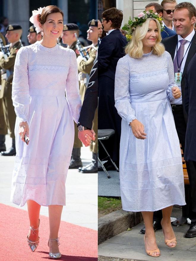 Trước khi trở thành người một nhà, công nương Kate và công nương tương lai Meghan Markle đã có màn đụng hàng váy áo thú vị - ảnh 7