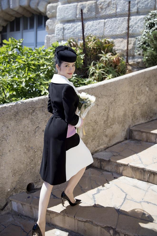 Lý Nhã Kỳ mặc quý phái tới viếng mộ Công nương Grace Kelly tại Monaco - Ảnh 6.