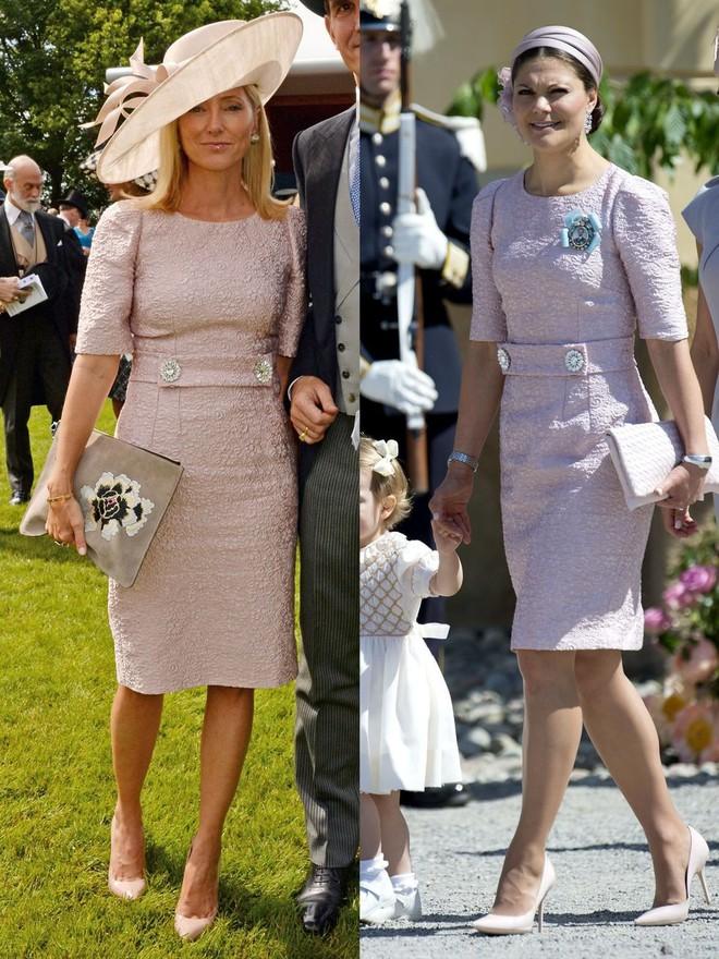 Trước khi trở thành người một nhà, công nương Kate và công nương tương lai Meghan Markle đã có màn đụng hàng váy áo thú vị - ảnh 8