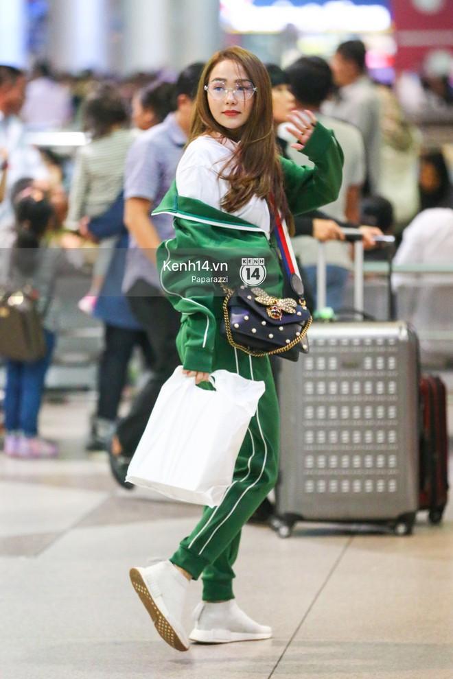 Diện đồ thể thao khoẻ khoắn, Minh Hằng nổi bật giữa sân bay lên đường đi Dubai tham dự tuần lễ thời trang quốc tế - ảnh 1