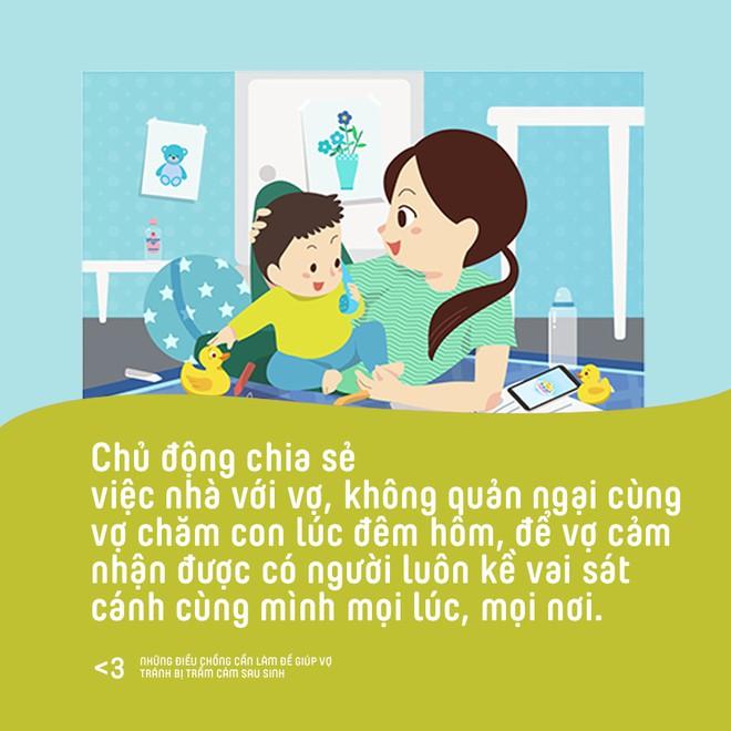 Những điều chồng cần làm để giúp vợ phòng tránh bị trầm cảm sau sinh - Ảnh 4.