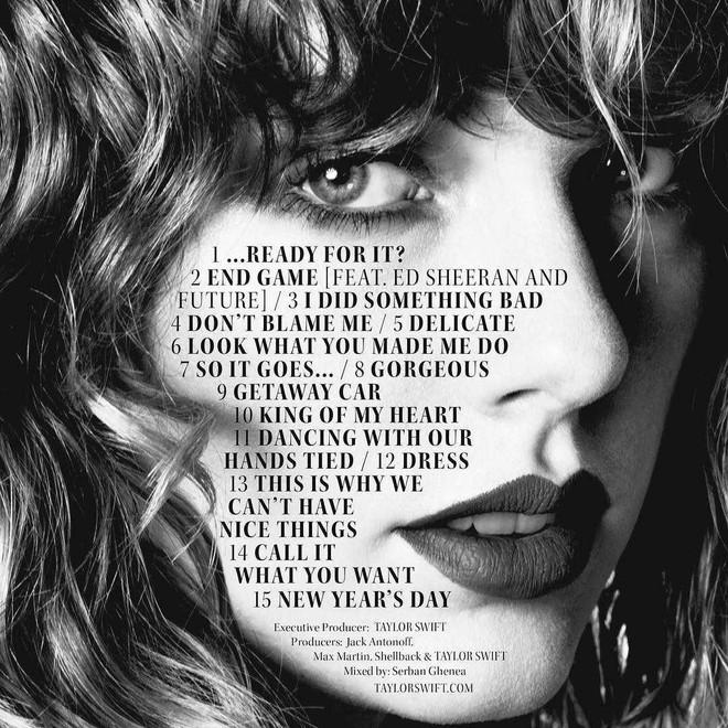 Taylor Swift không giữ được album bí mật đến phút chót, toàn bộ tracklist bị rò rỉ
