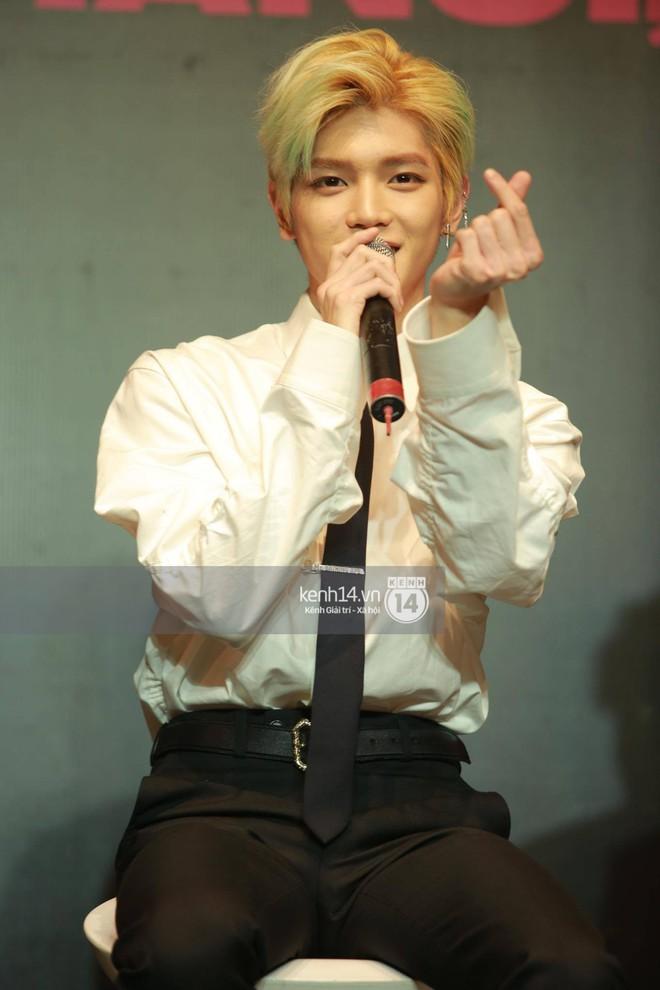 Mỹ nam Taeyong tiết lộ muốn ở lại Việt Nam, NCT 127 đồng loạt tỏ tình Anh yêu em với fan tại họp báo ở Hà Nội - Ảnh 13.