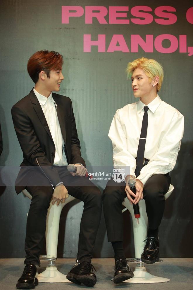 Mỹ nam Taeyong tiết lộ muốn ở lại Việt Nam, NCT 127 đồng loạt tỏ tình Anh yêu em với fan tại họp báo ở Hà Nội - Ảnh 18.