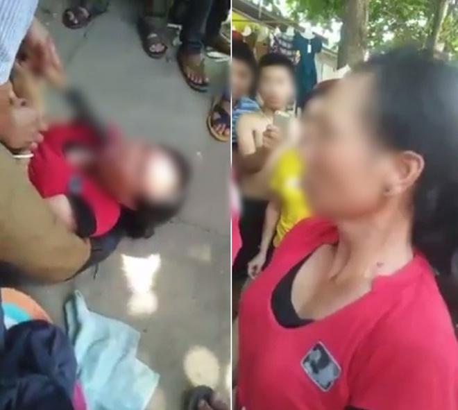 Nghệ An: Người phụ nữ bị người dân dí dao vào cổ yêu cầu khai báo việc bắt cóc trẻ em 1