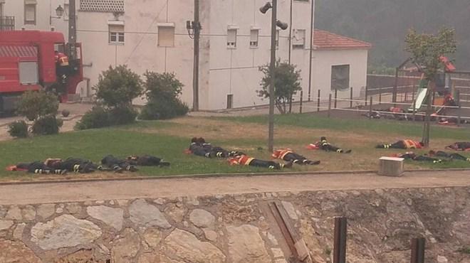 Hình ảnh những người lính cứu hỏa nằm gục trên bãi cỏ khiến cả thế giới cúi mình khâm phục 3