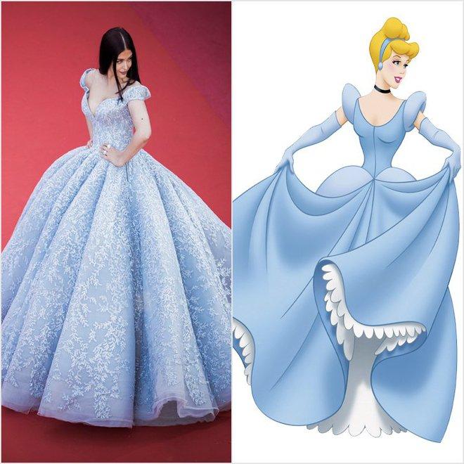 Thực ra loạt váy áo đi dự Cannes của dàn mỹ nhân Hollywood đều lấy cảm hứng từ các nhân vật Disney
