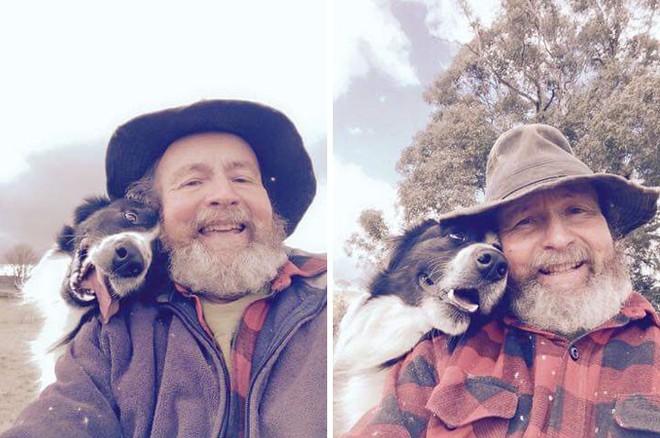 Con gái dạy bố chụp ảnh tự sướng, ngờ đâu bố và chó cưng bỗng nổi như cồn - Ảnh 2.