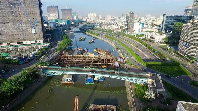 Nhìn từ trên cao công trình chống ngập 10.000 tỷ đang dần thành hình ở Sài Gòn - Ảnh 2.
